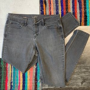 LOFT Gray 'Curvy Skinny' Skinny Jeans